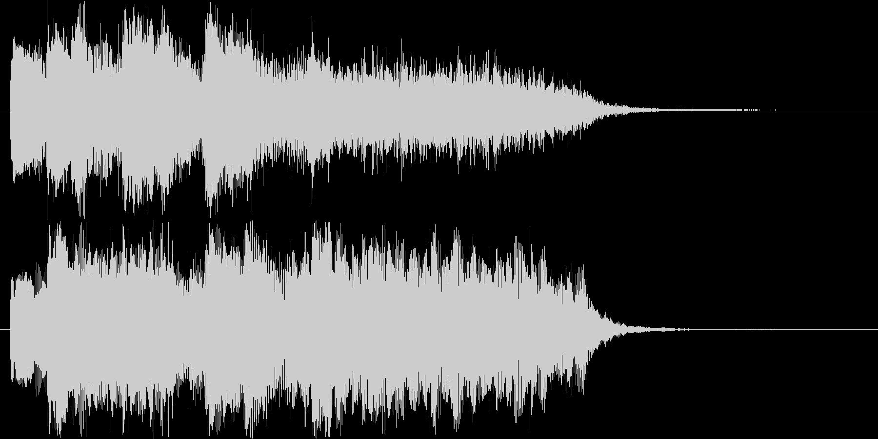 ゆっくりとした鐘の音のショート曲の未再生の波形