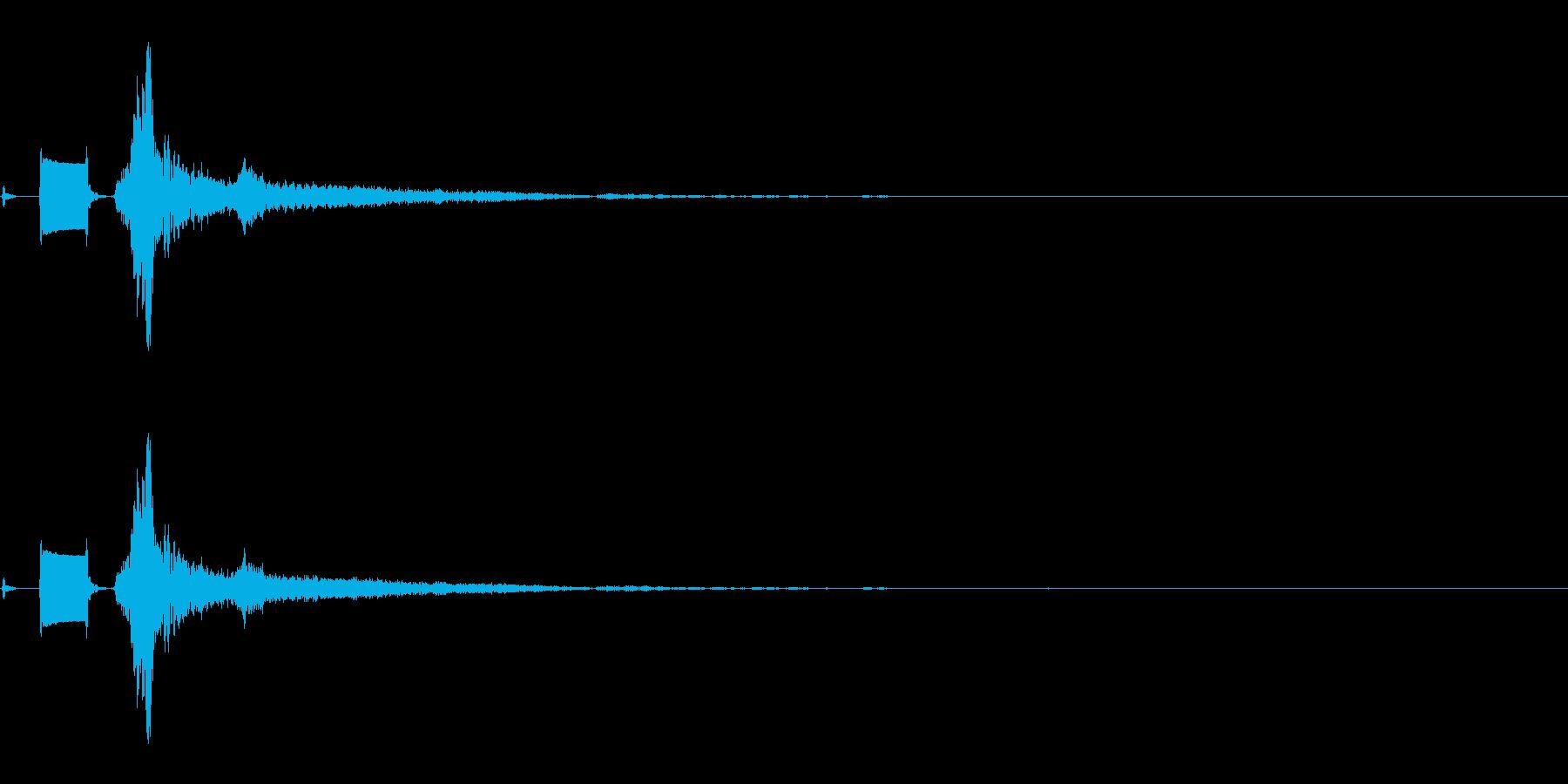 TV OFF-2の再生済みの波形