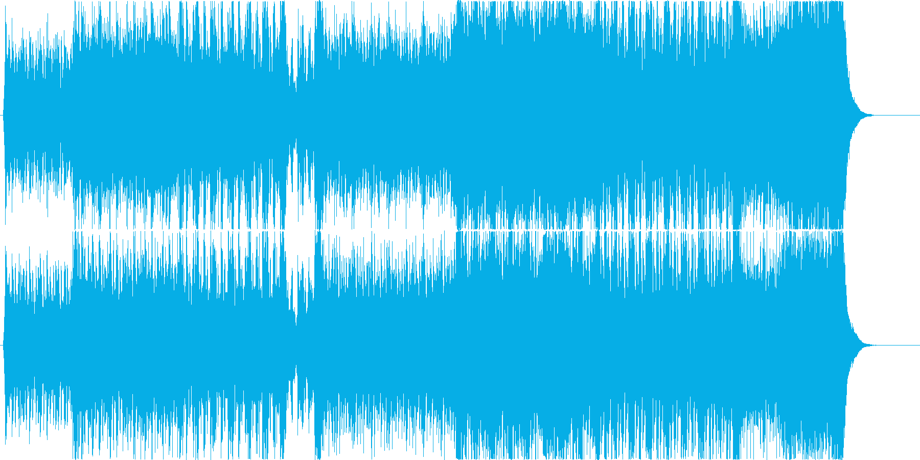 戦闘、バトルシーン向けのエピックなBGMの再生済みの波形