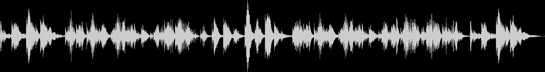 叙情的で切ない透明なピアノアンビエントの未再生の波形