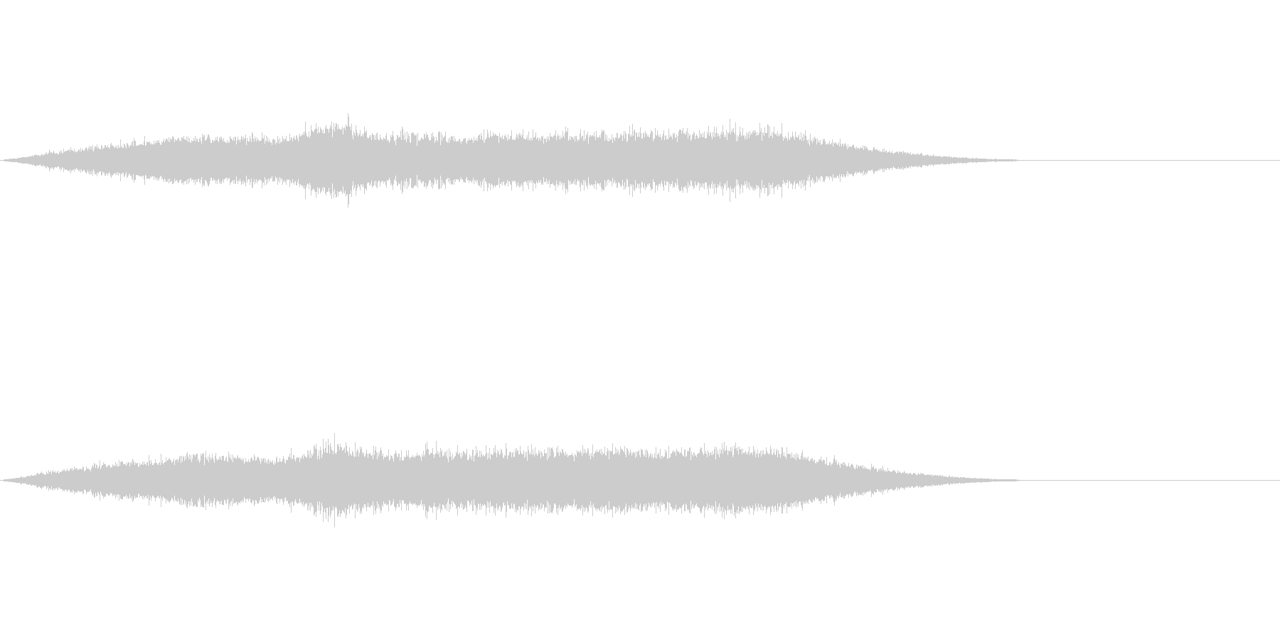 ワァーキャー!コンサートライブの歓声10の未再生の波形