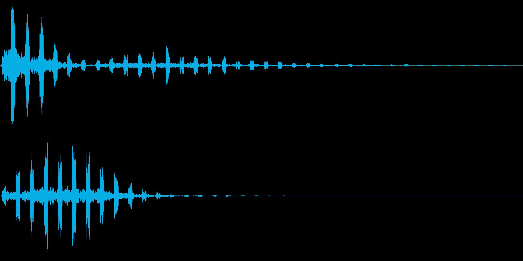チュイイイン(涼しげ)の再生済みの波形