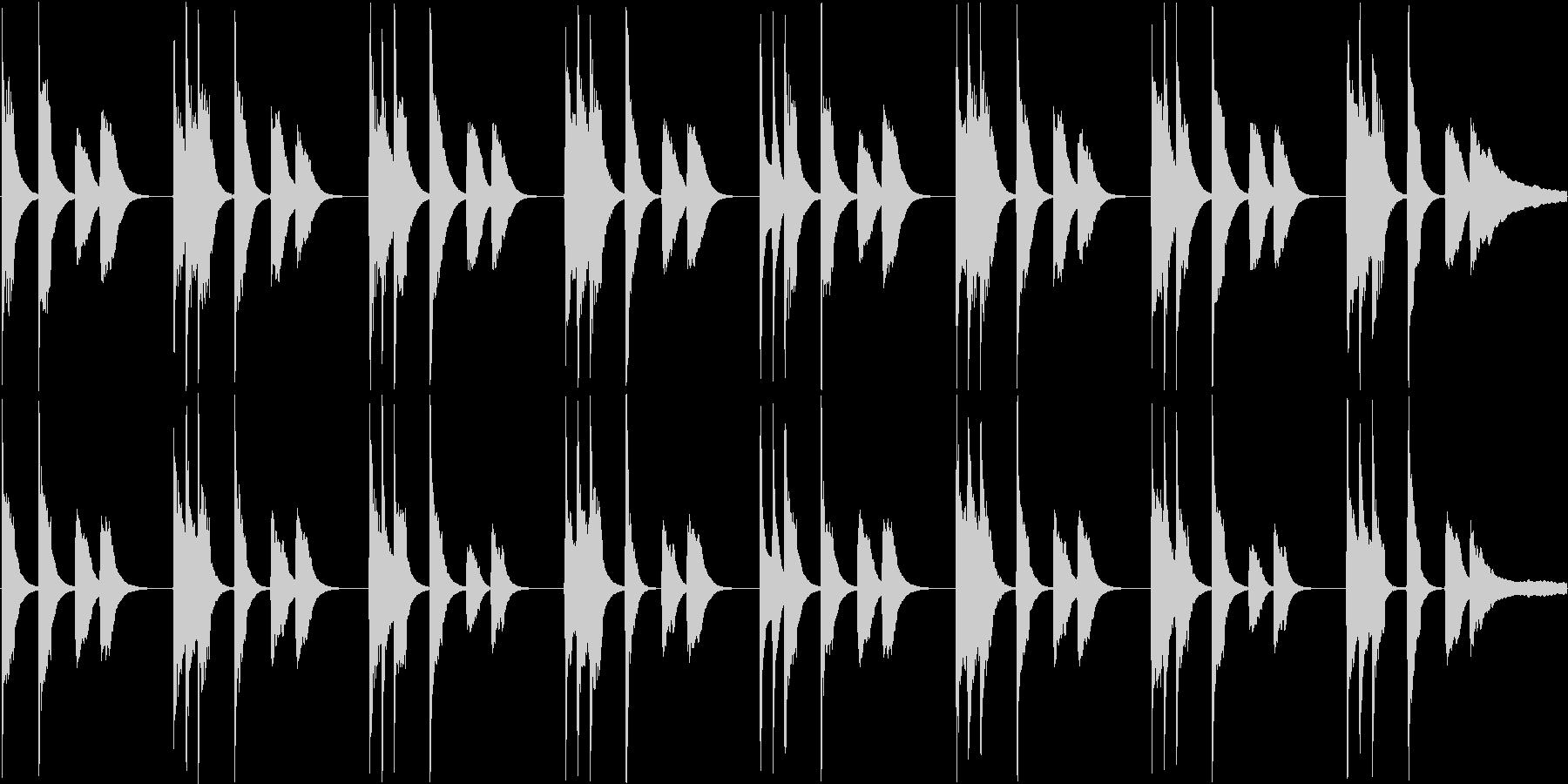 かわいらしい電子音で構成されたループ楽…の未再生の波形