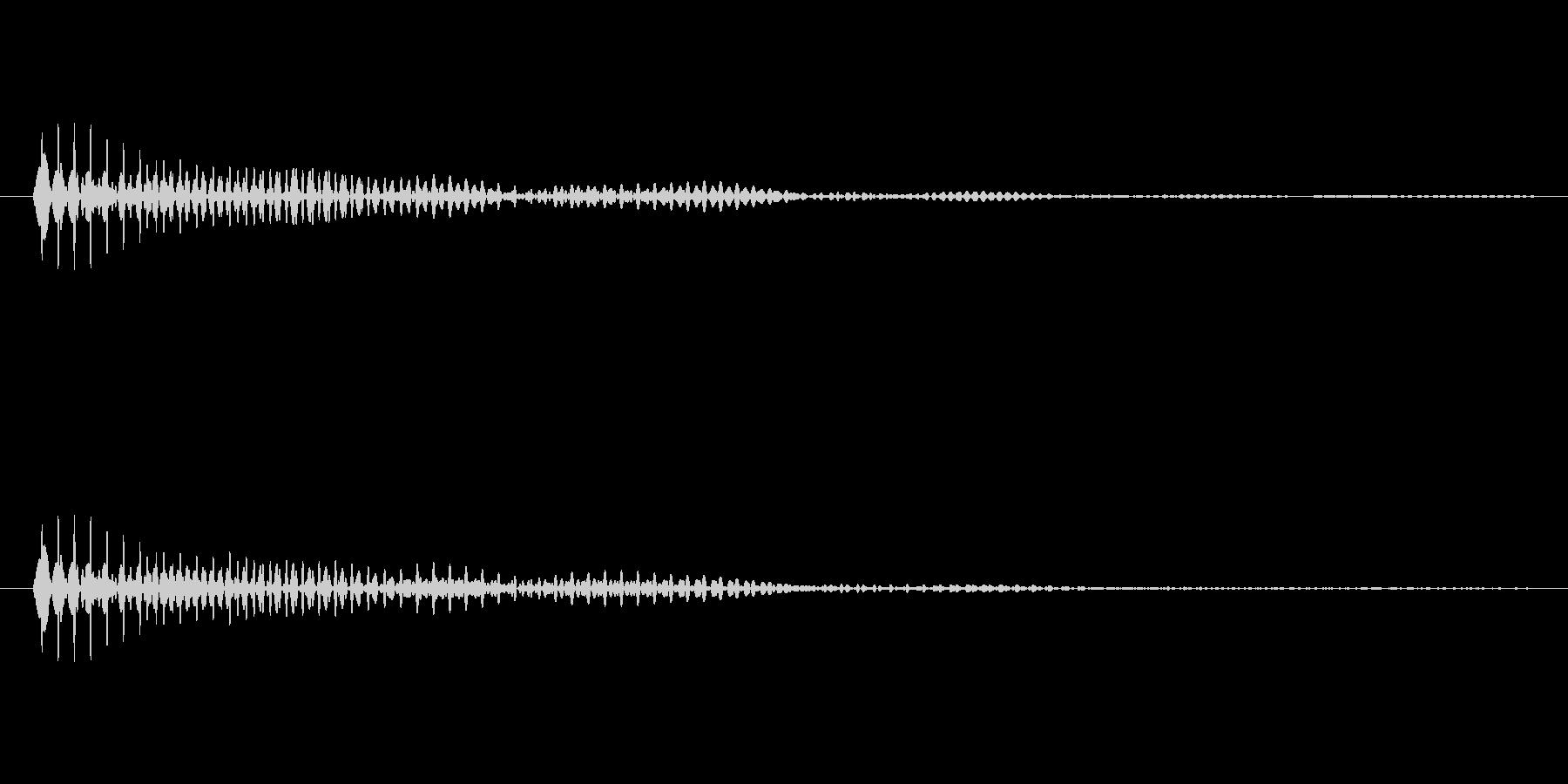 「ブンッ」という効果音ですの未再生の波形
