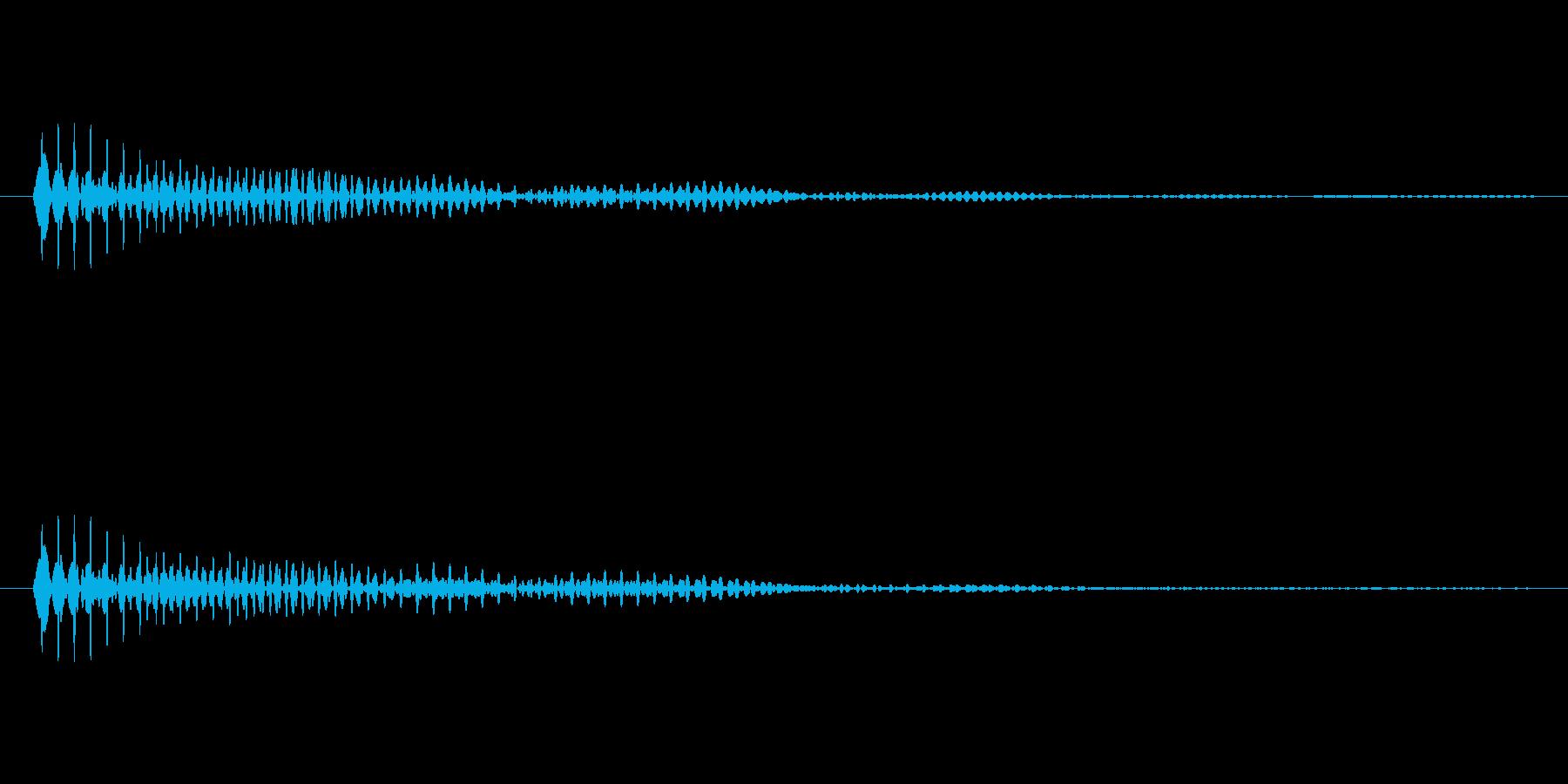 「ブンッ」という効果音ですの再生済みの波形