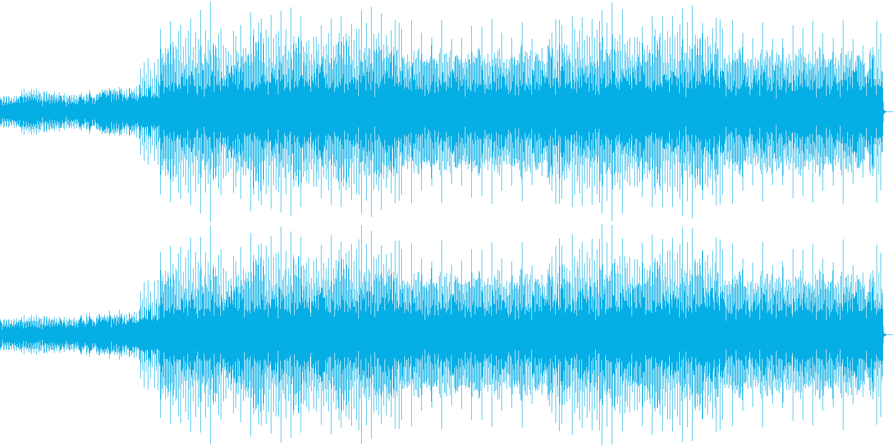 商品、サービス説明動画用BGMの再生済みの波形