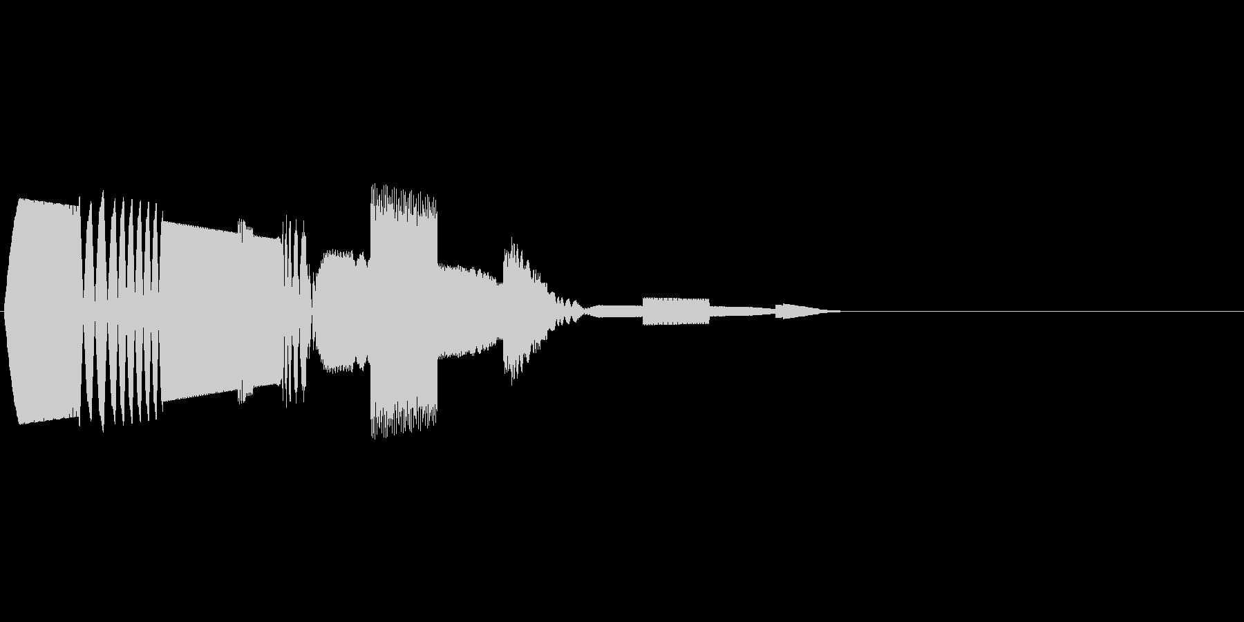 チュピコン (決定音 デジタル風)の未再生の波形