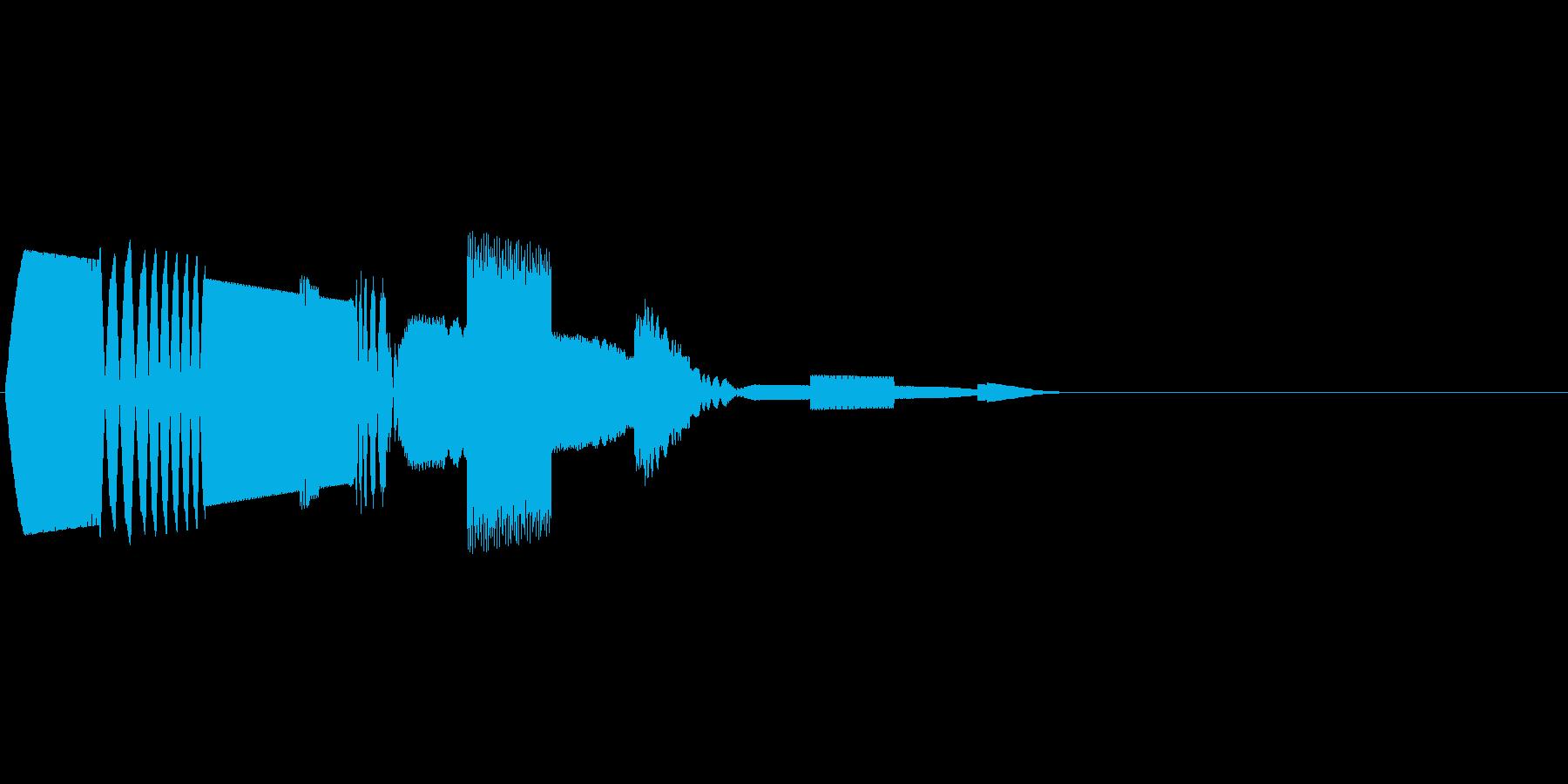 チュピコン (決定音 デジタル風)の再生済みの波形