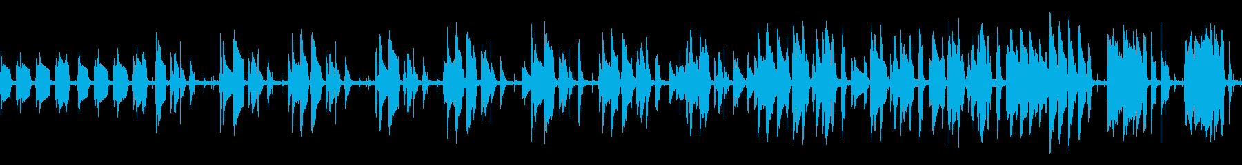 jazz系BGM(ループ仕様)の再生済みの波形
