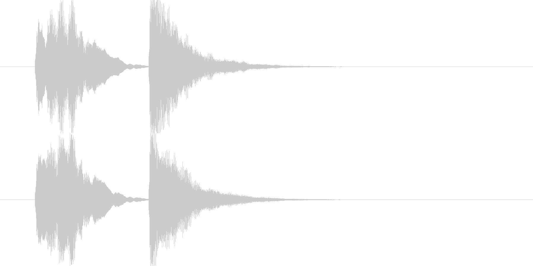 完結時・レベルアップなどに最適な管楽器音の未再生の波形