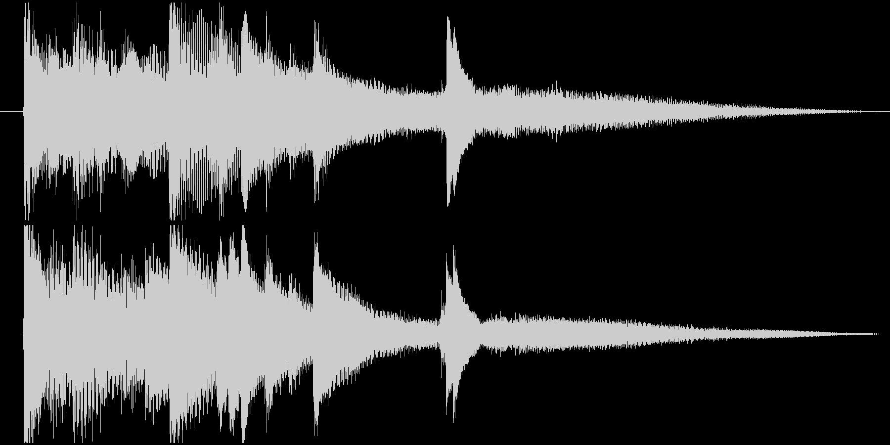 エンディング等に使えるシンプルなジングルの未再生の波形