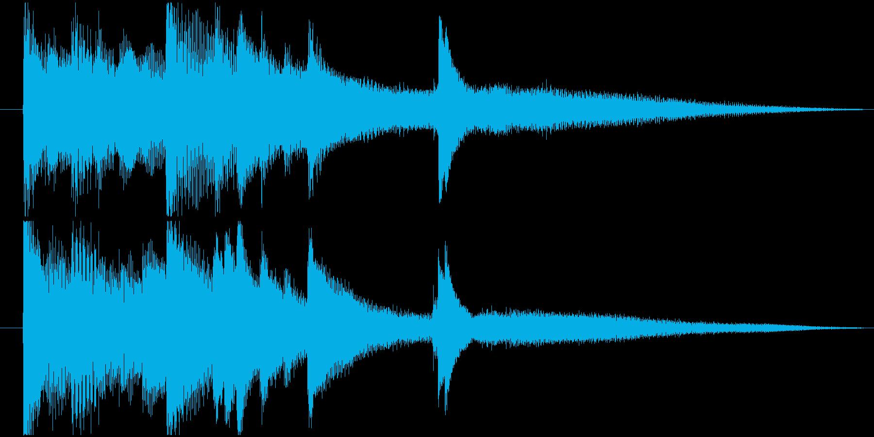 エンディング等に使えるシンプルなジングルの再生済みの波形