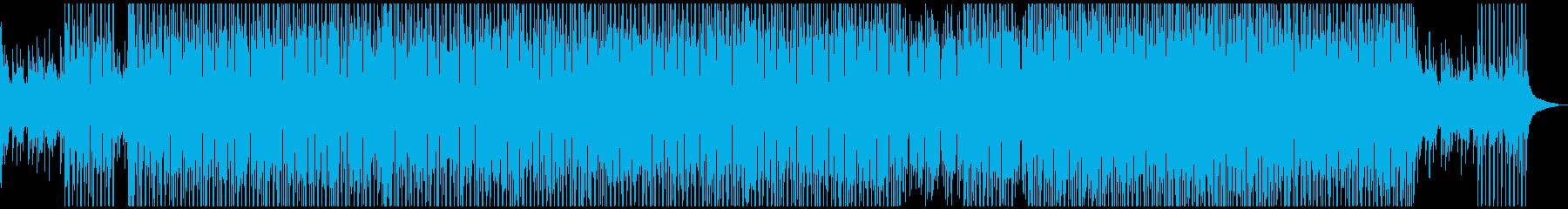 夏をイメージしたトロピカルなハウスの再生済みの波形