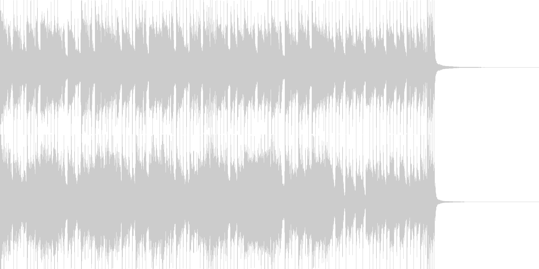 各パートごと掛け合いのあるバンドサウンドの未再生の波形