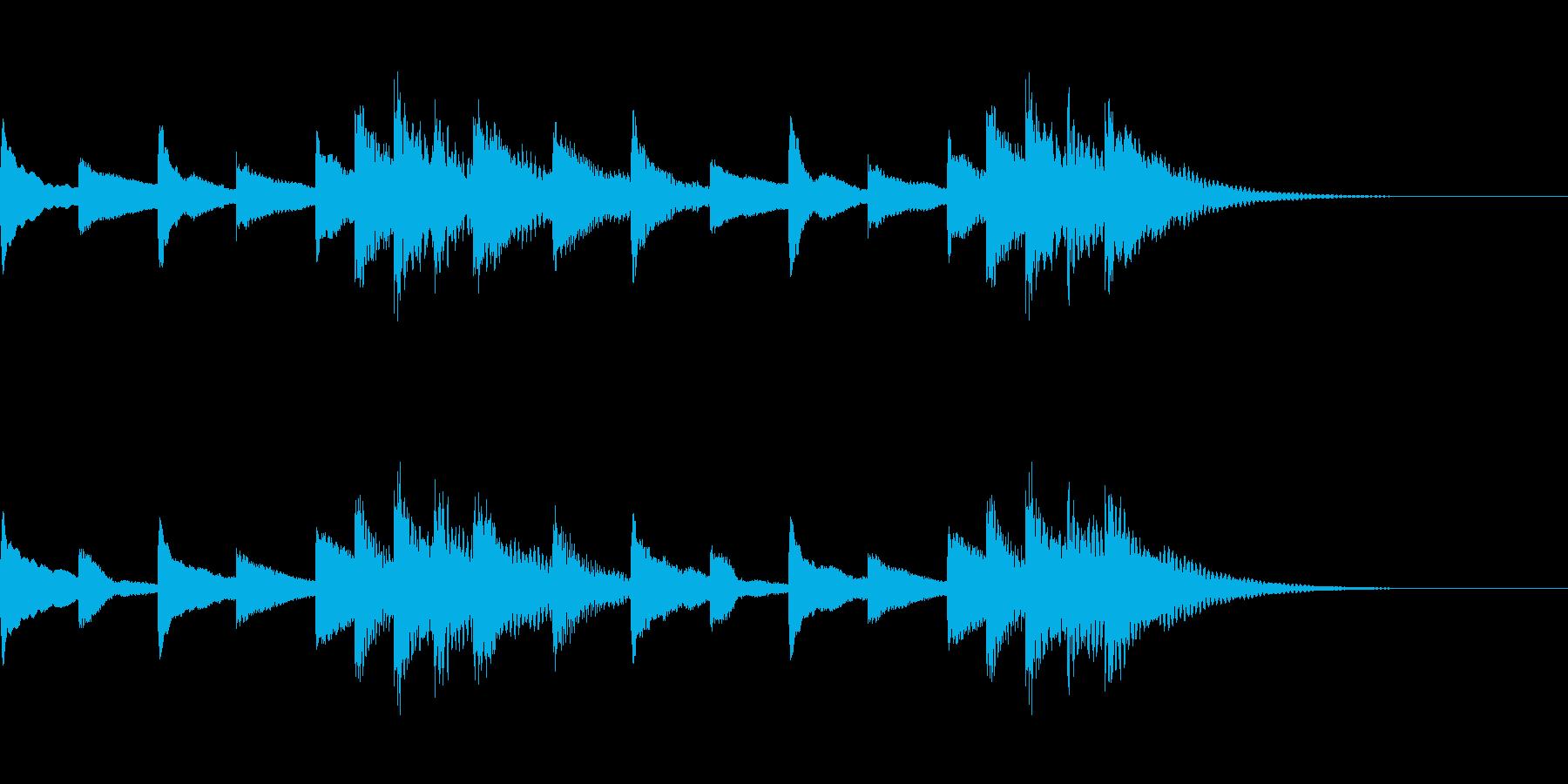 可愛い木琴ジングルの再生済みの波形