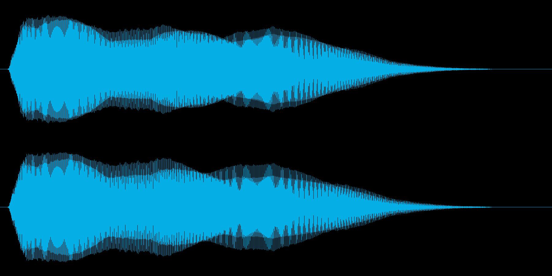 ピュゥゥ〜ン(ユーモラスで余韻のある音)の再生済みの波形