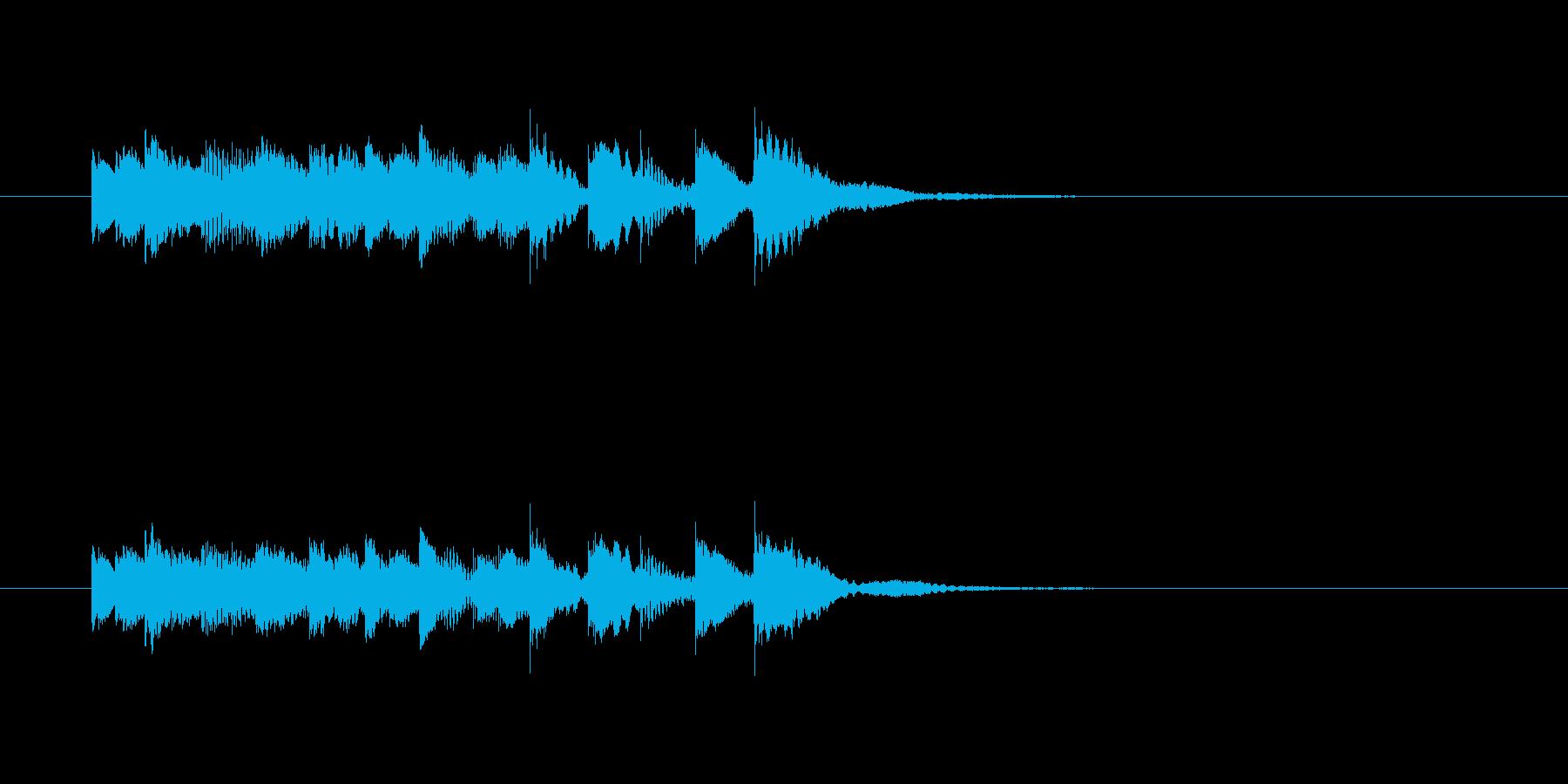 ピロピロピロリンリン(透明感、打楽器)の再生済みの波形