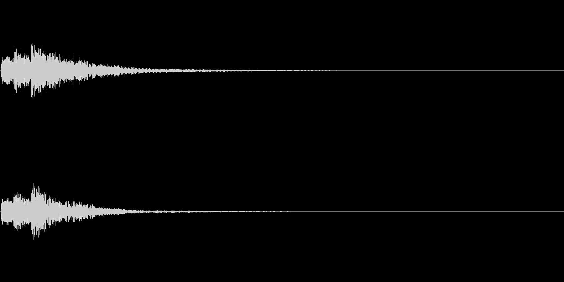 決定 和風02の未再生の波形