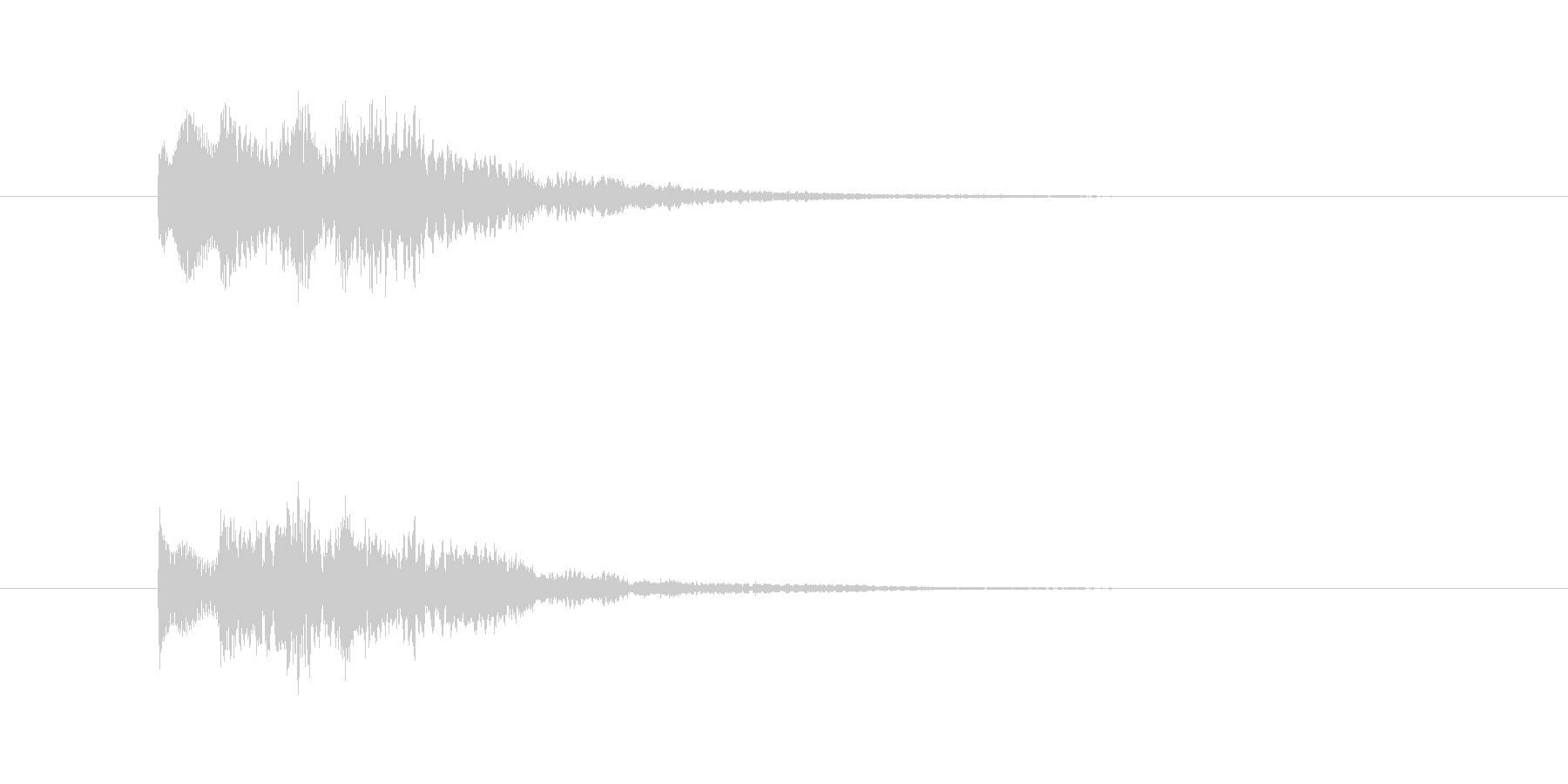 タラリランという透明感のある決定音の未再生の波形