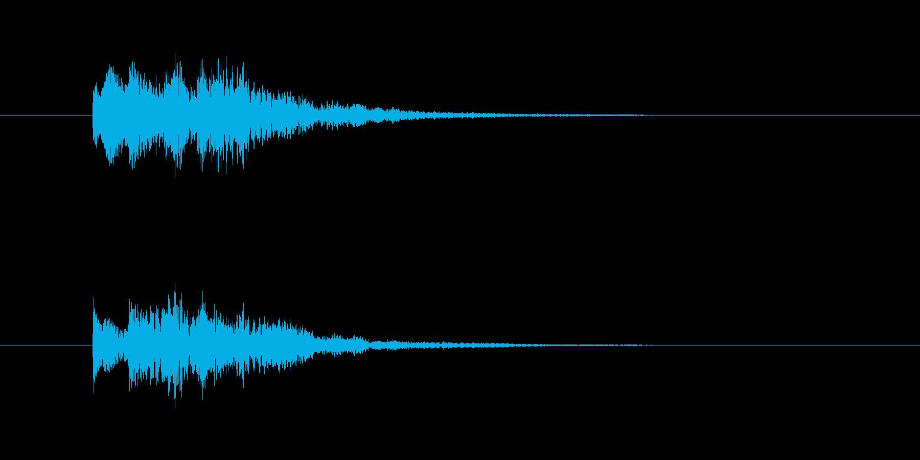 タラリランという透明感のある決定音の再生済みの波形
