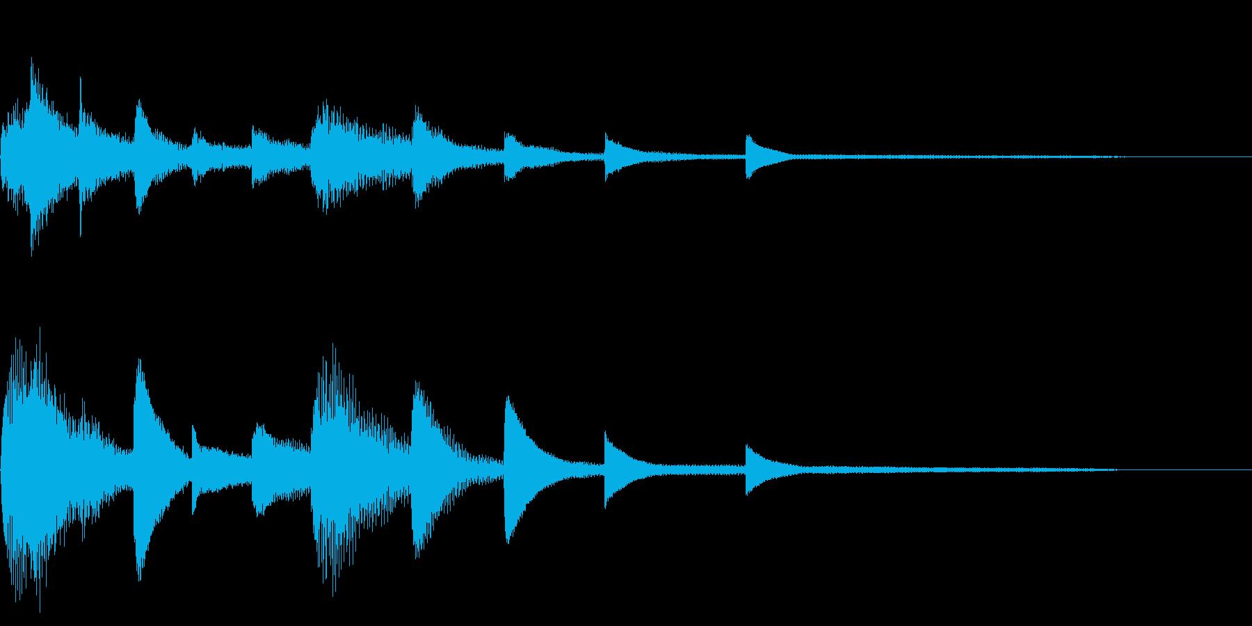 ピアノのジングルですの再生済みの波形