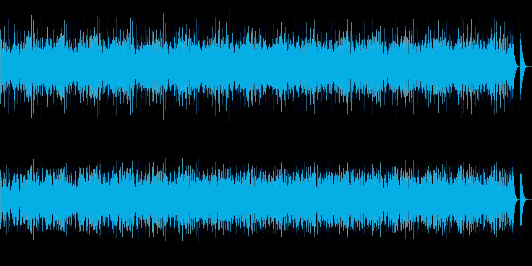 和風・オーソドックスな祭囃子の再生済みの波形