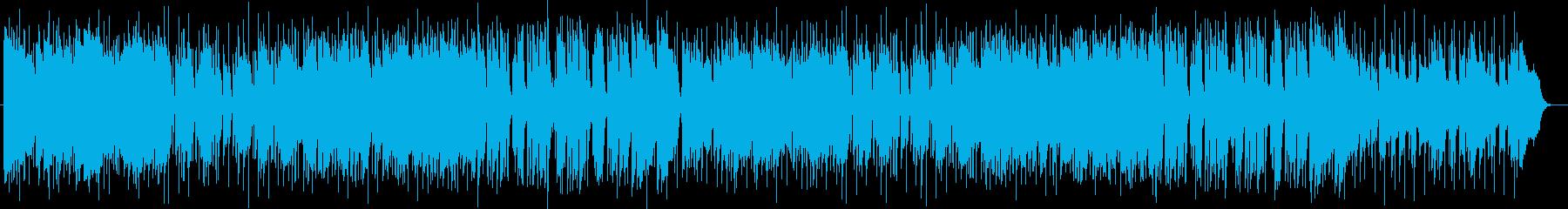 キーボードとピアノのポップスの再生済みの波形