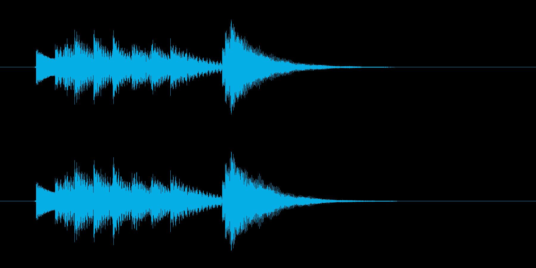 ポンパパパン・・(明るく楽しい鉄琴音)の再生済みの波形