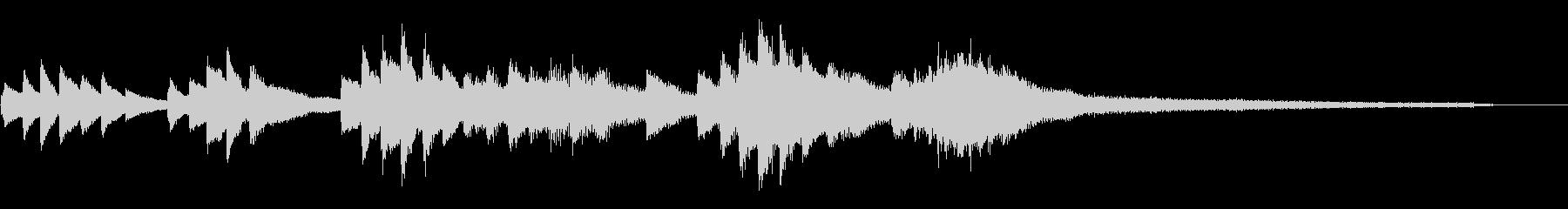 和風のジングル5-ピアノソロの未再生の波形