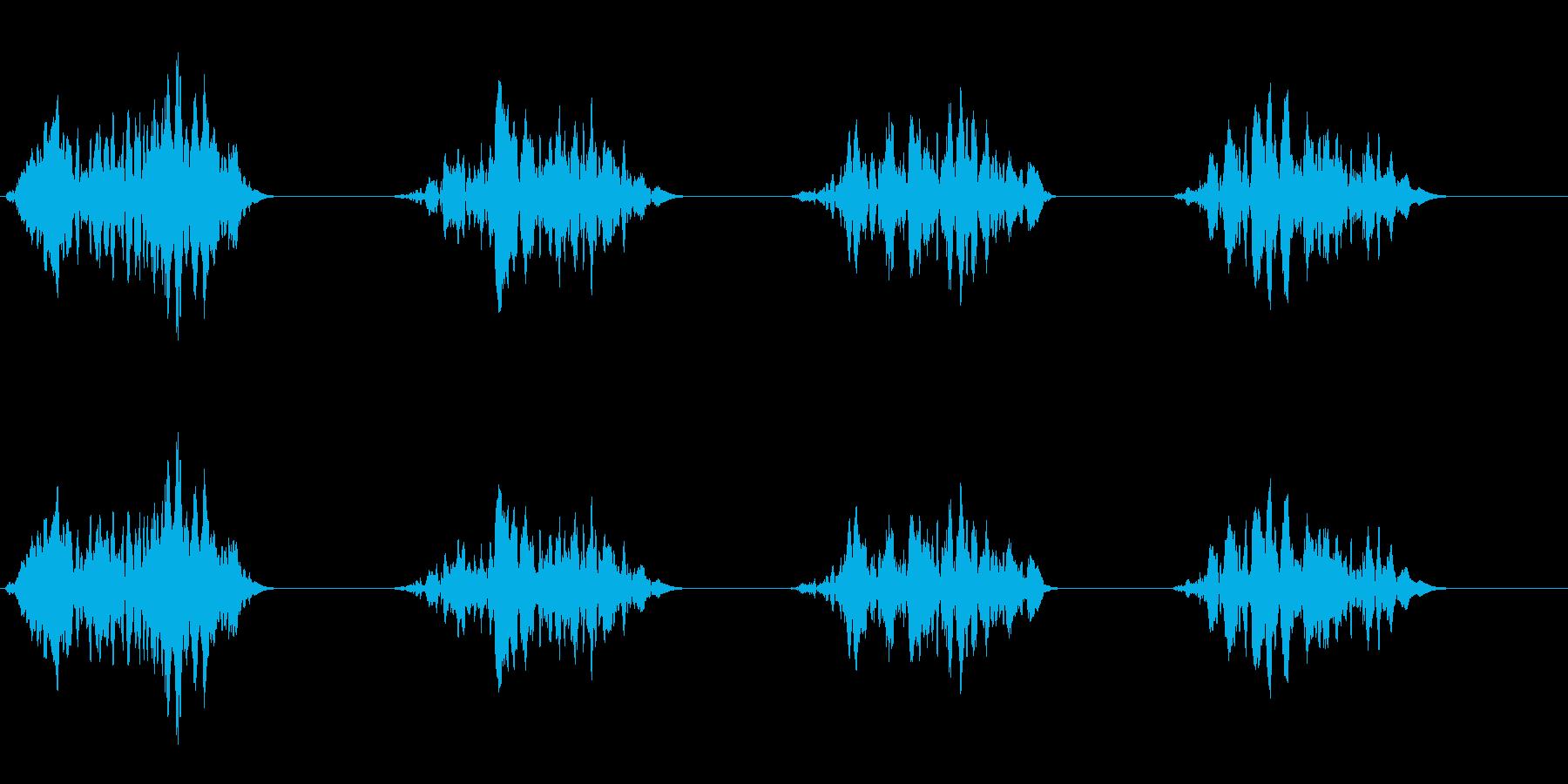 フォンフォンという引きずり音の再生済みの波形