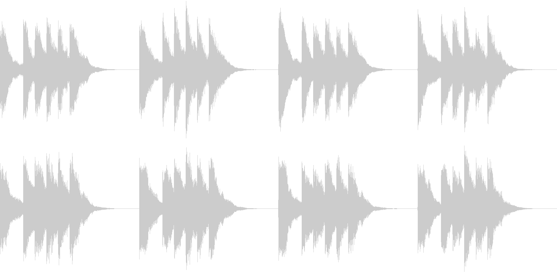 シンプル ベル 着信音 チャイム A10の未再生の波形