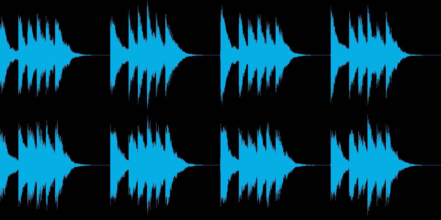 シンプル ベル 着信音 チャイム A10の再生済みの波形