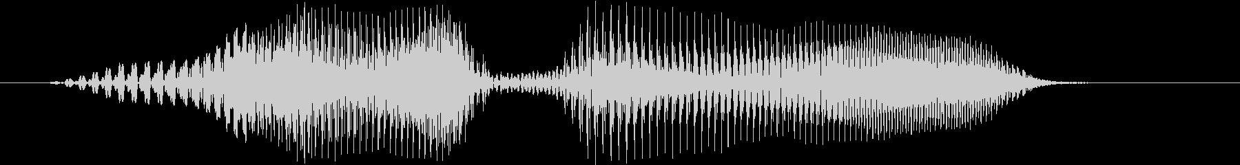 レディーの未再生の波形