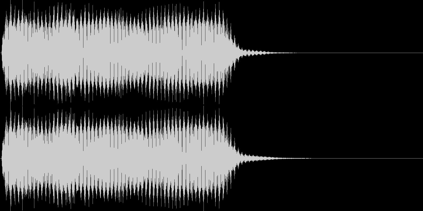 プ~ッ。クラクション(長)の未再生の波形