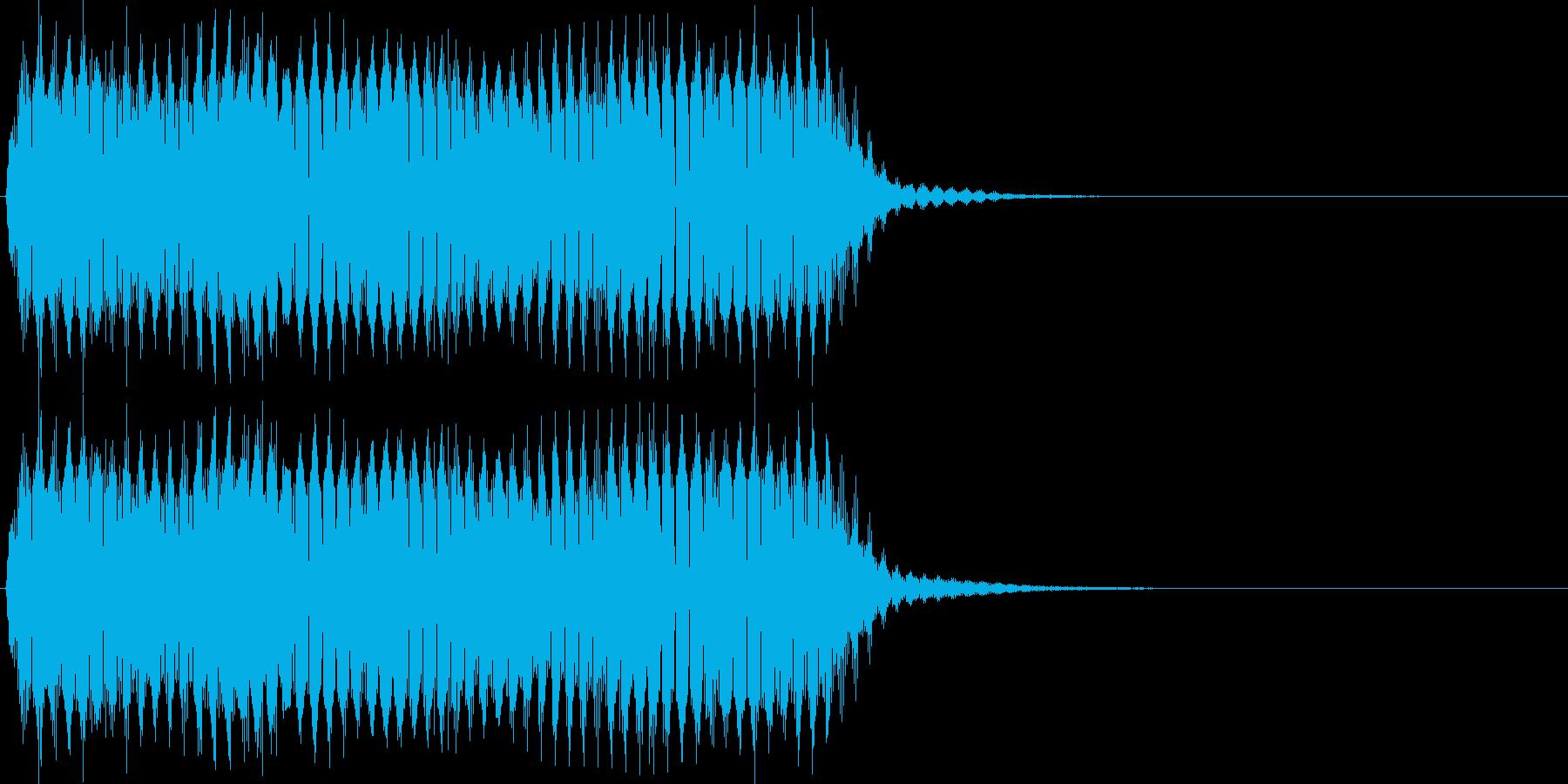 プ~ッ。クラクション(長)の再生済みの波形