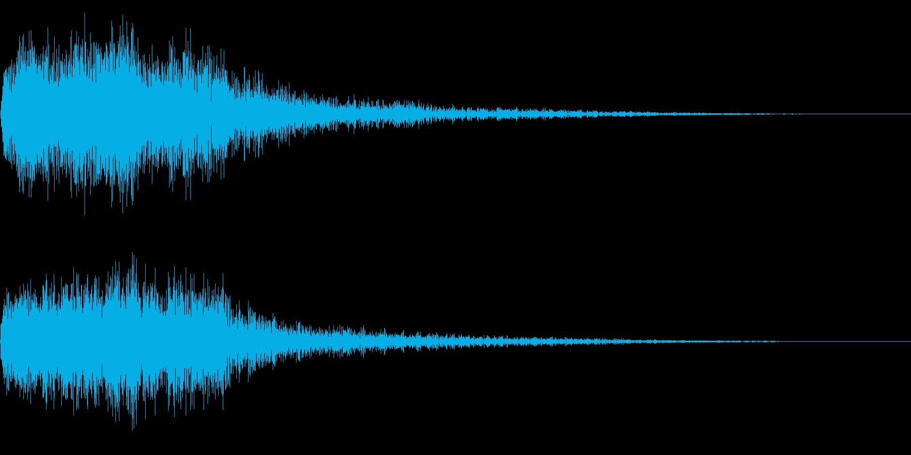 勇ましい場面転換音 CMイン シーン切替の再生済みの波形