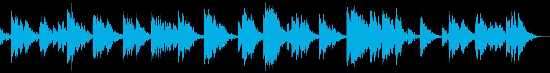 深海のようなヒーリングサウンドの再生済みの波形