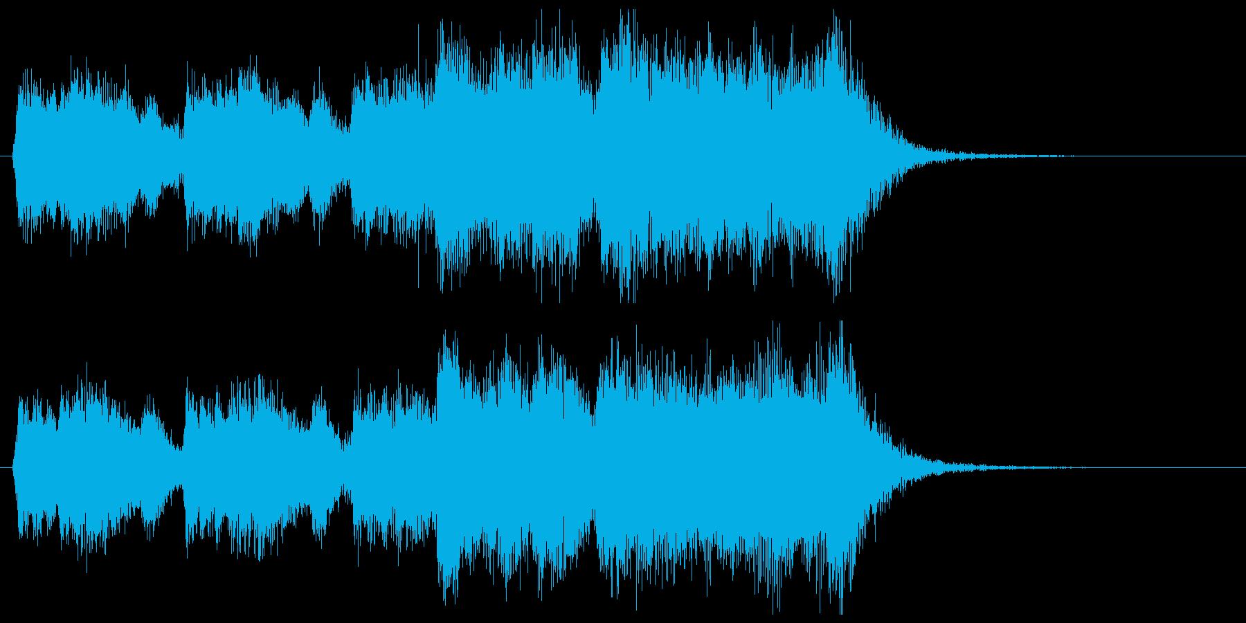 発表!華やか金管ファンファーレの再生済みの波形