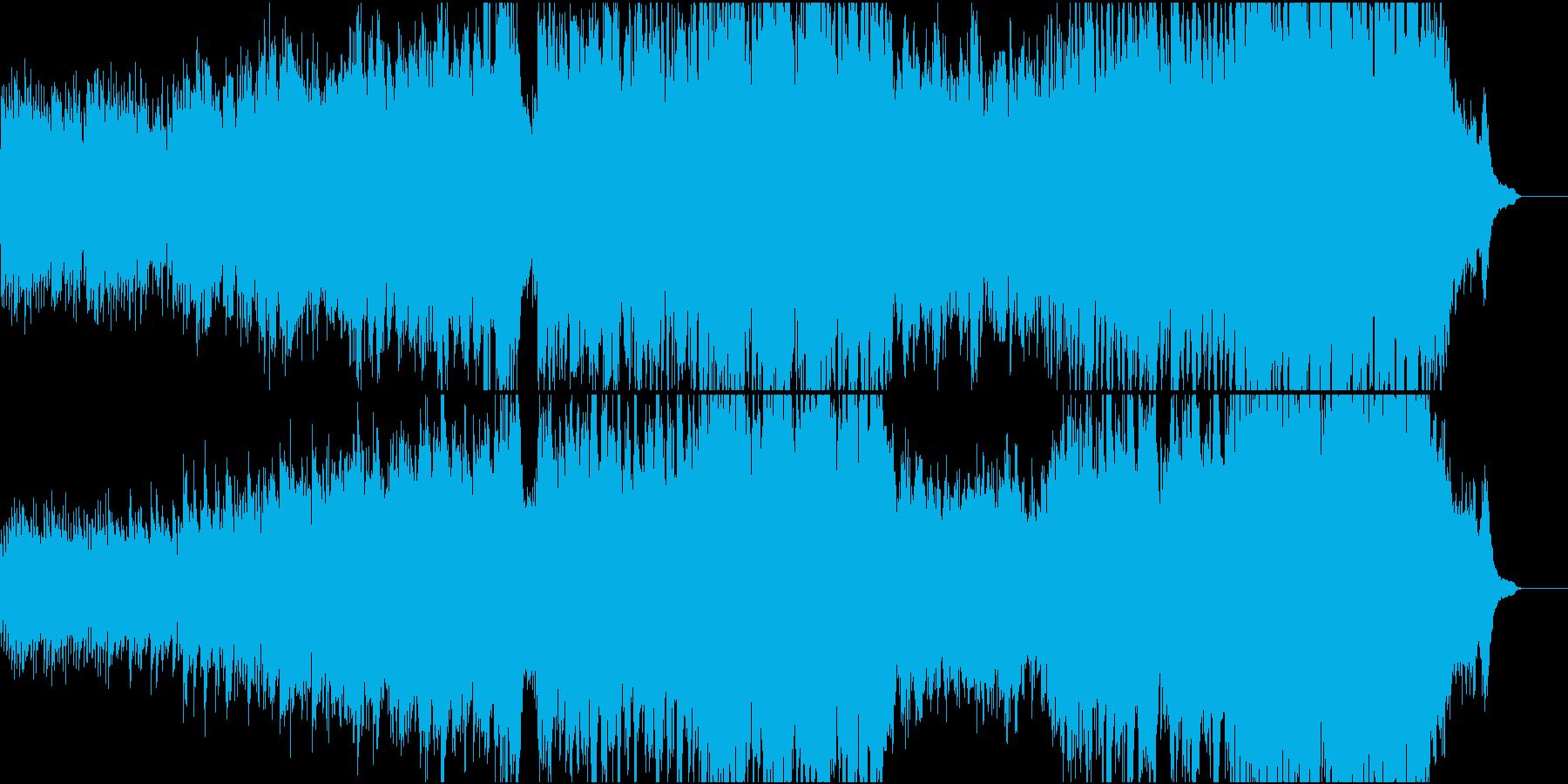 ハリウッド風ピアノ+オケ2打楽器抜きの再生済みの波形