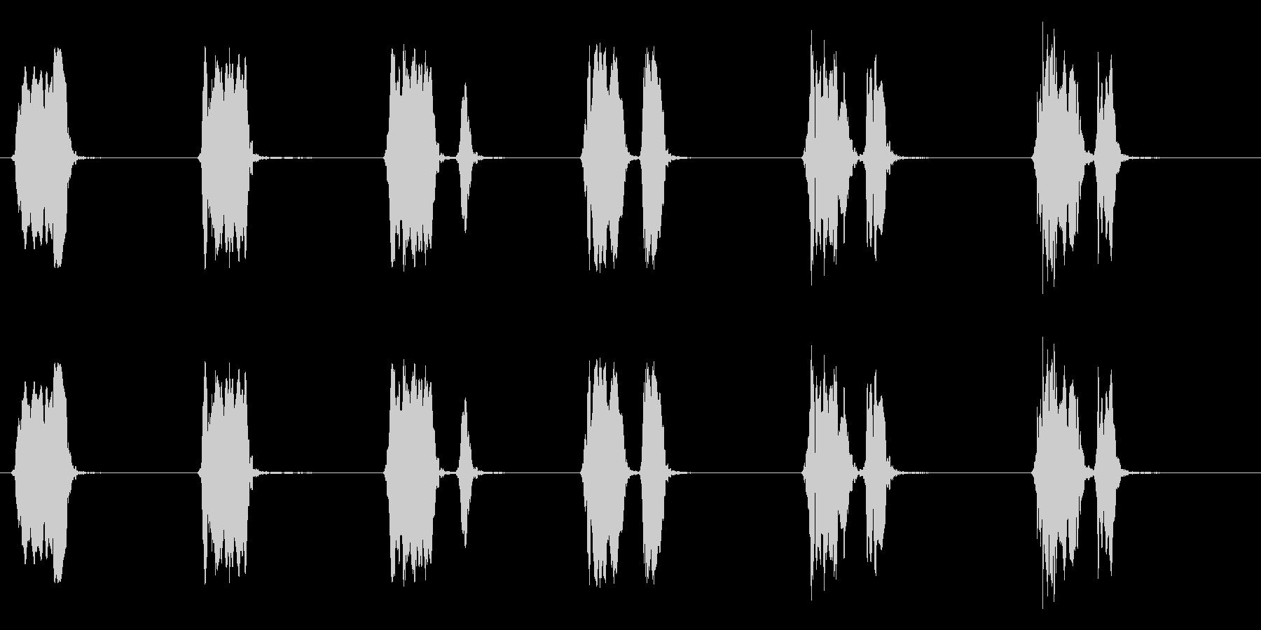 ウズラの鳴き声04-01の未再生の波形