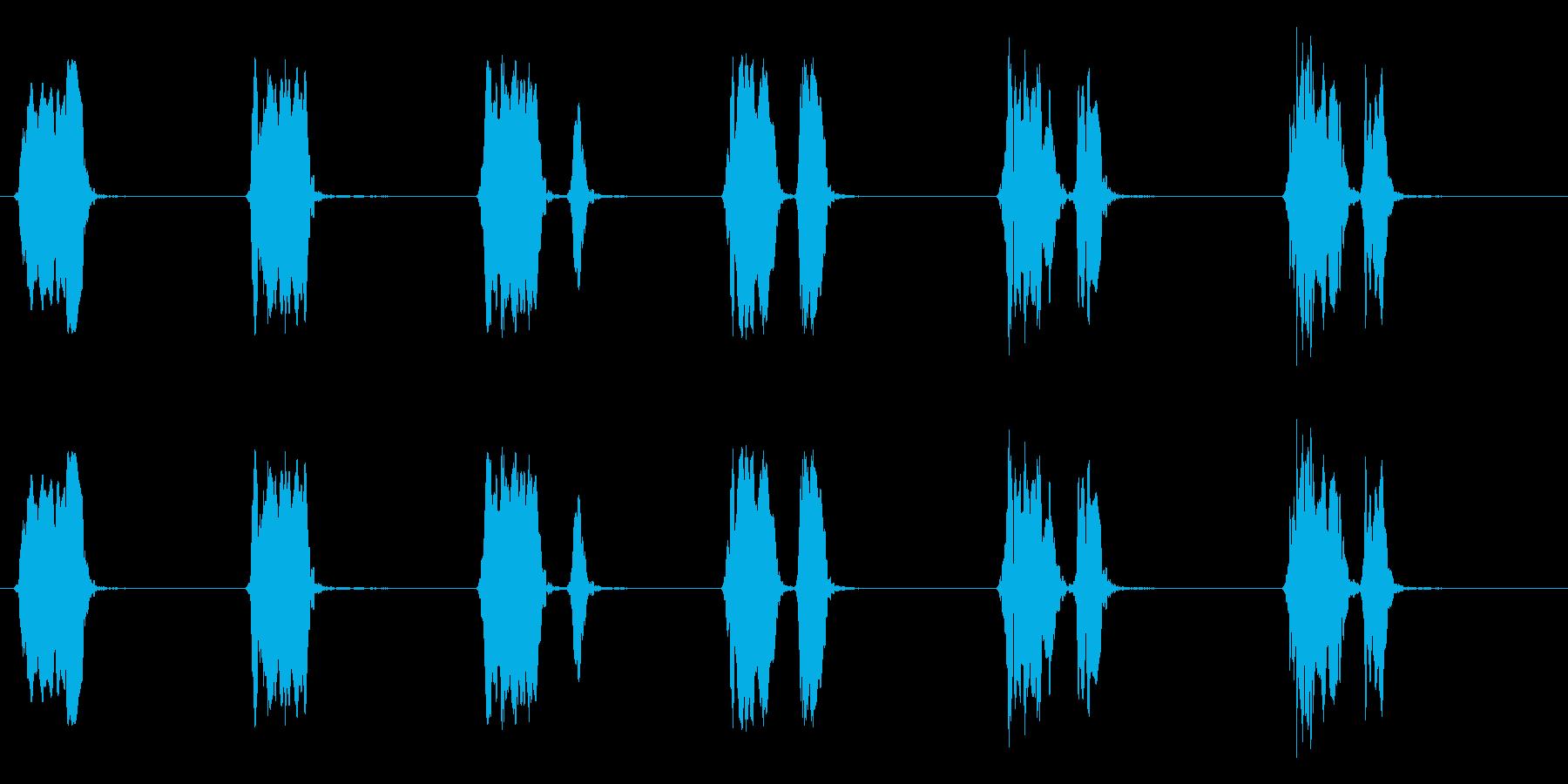 ウズラの鳴き声04-01の再生済みの波形