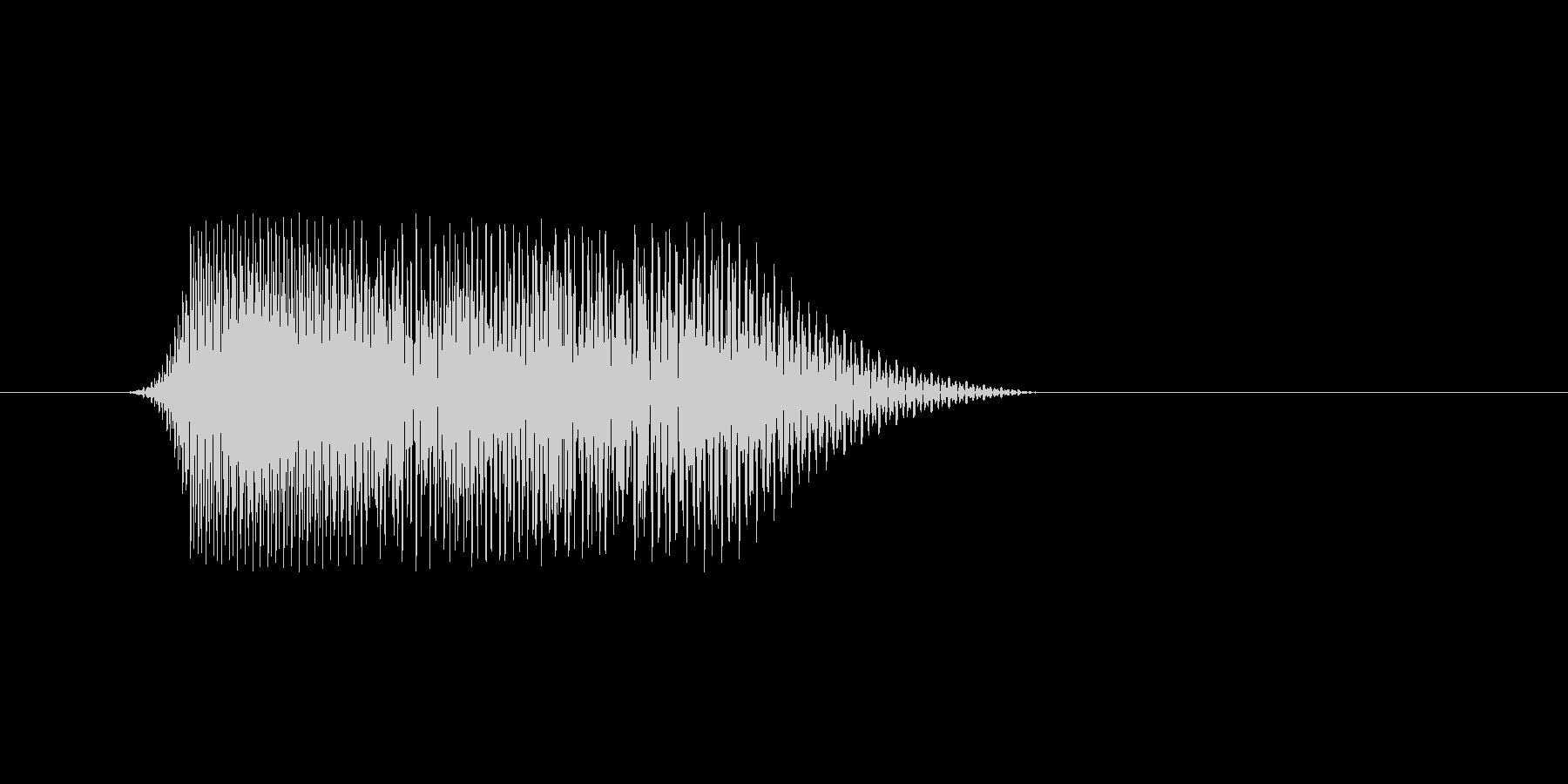 ファミコン風効果音 キャンセル系 12の未再生の波形
