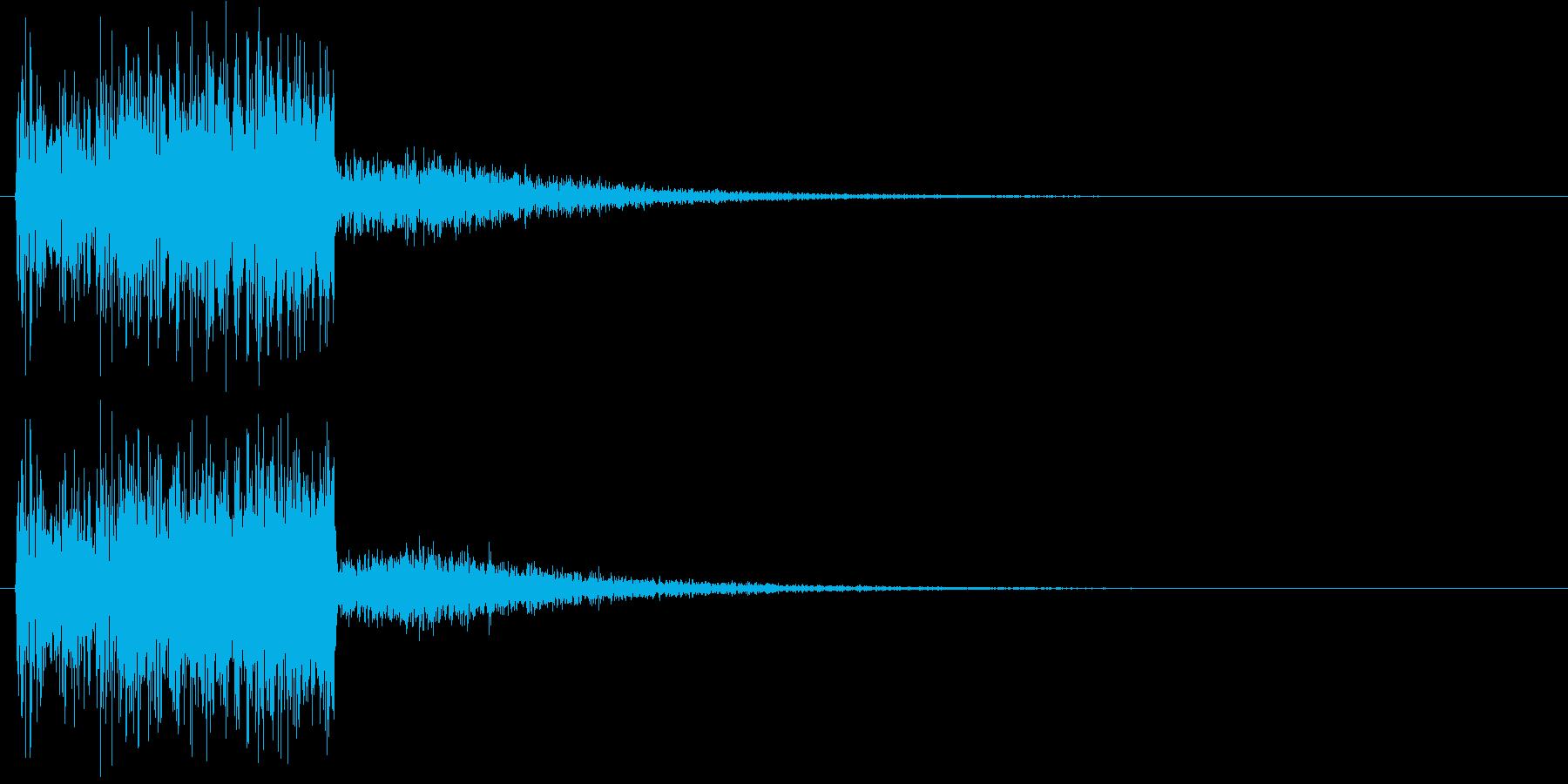 グィーーン(レベル上昇音)の再生済みの波形