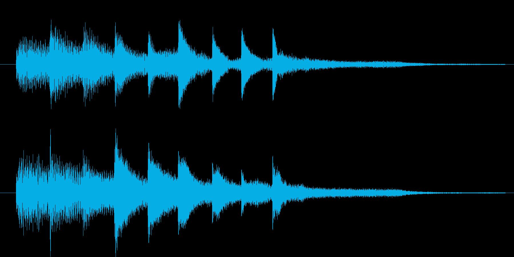 ピアノ転回音3の再生済みの波形