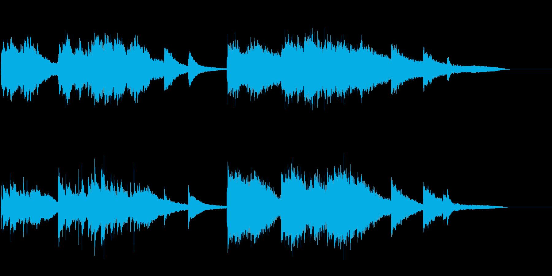 【ピアノ】切ないピアノソロの再生済みの波形
