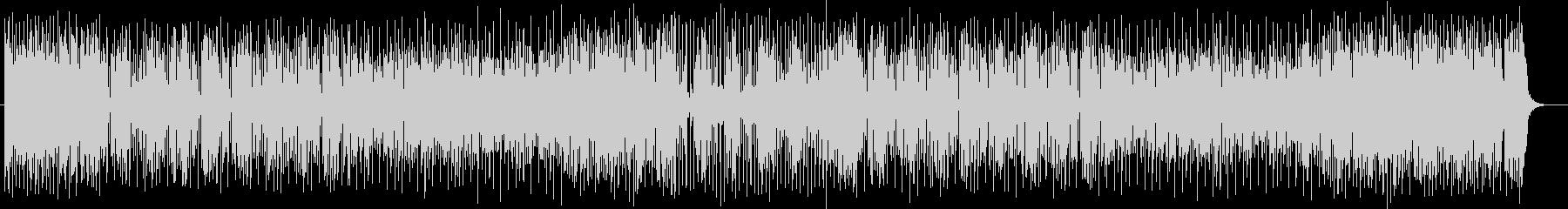 軽快でにぎやかなシンセサイザーのポップスの未再生の波形