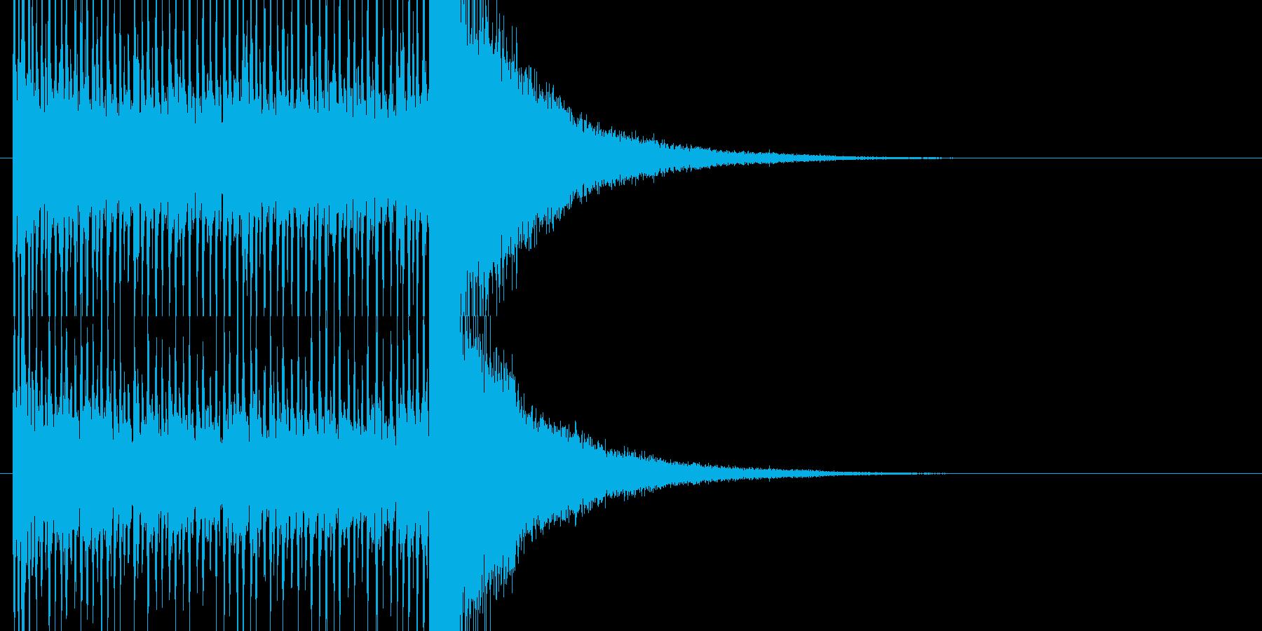 動画作成に最適なドラムロールの再生済みの波形