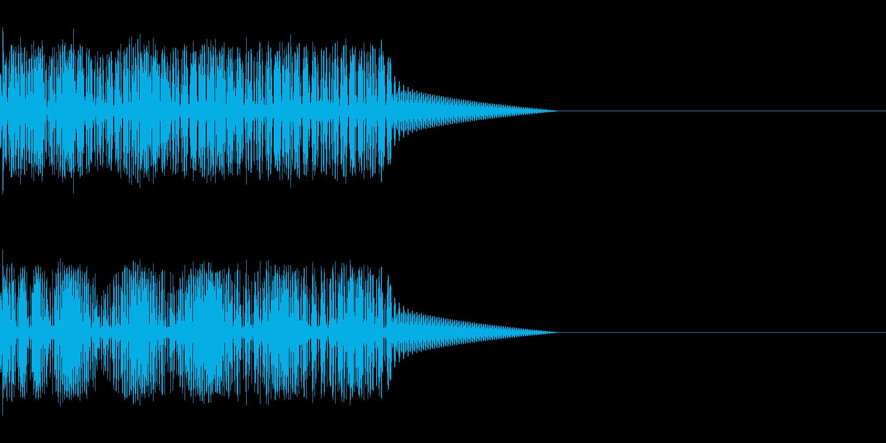 ブー!ブザー音。の再生済みの波形