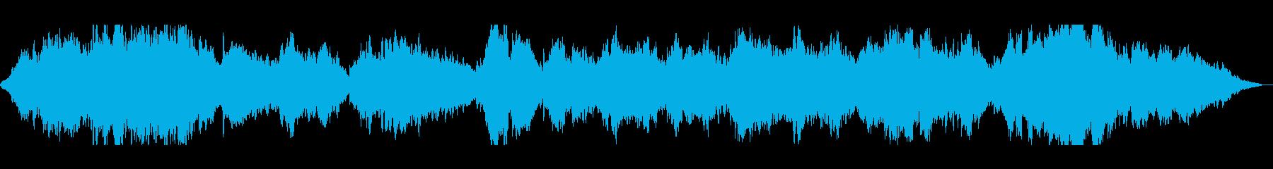美しい子供のソプラノと温かいストリングスの再生済みの波形