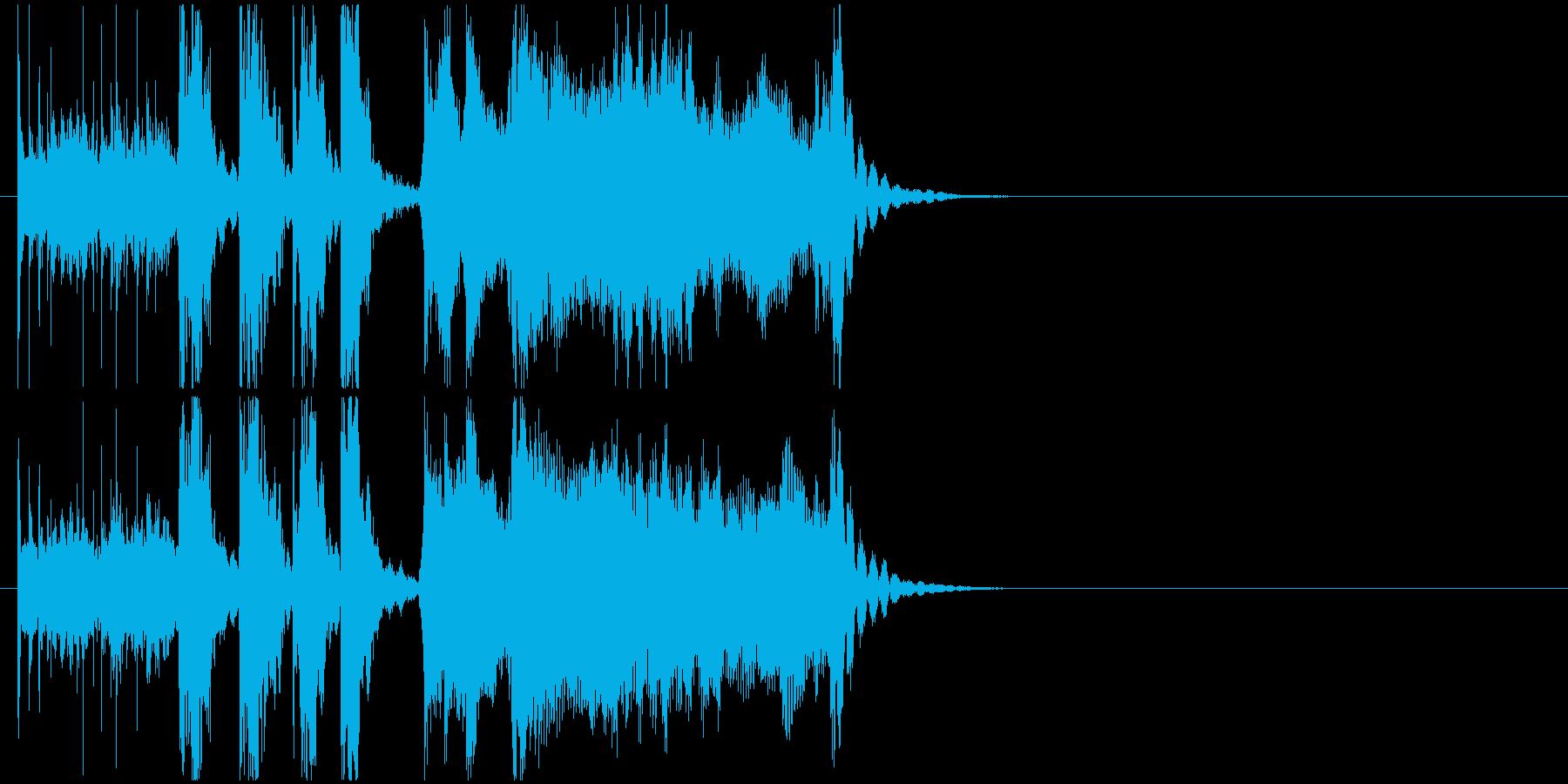 軽快なサンバ風ジングルの再生済みの波形